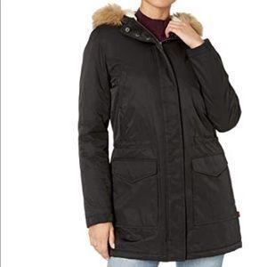 Levi's Navy Puffer Jacket w: Fur Trim Hood XL FLAW